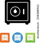 vault   bank safe icon | Shutterstock .eps vector #258388961