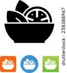 bowl of salad symbol | Shutterstock .eps vector #258388967