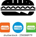sub sandwich icon | Shutterstock .eps vector #258388979