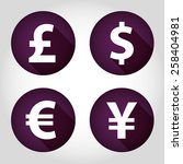 the currency signs of dollar ... | Shutterstock .eps vector #258404981