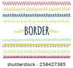 set of decorative hand drawn... | Shutterstock . vector #258427385