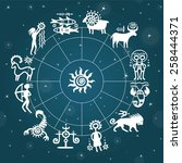 Horoscope Circle Against The...