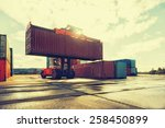 loading and unloading of... | Shutterstock . vector #258450899