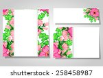 abstract flower background with ... | Shutterstock . vector #258458987