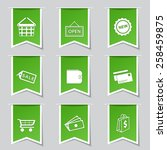 shopping sign label vector... | Shutterstock .eps vector #258459875