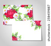 abstract flower background with ... | Shutterstock . vector #258459887