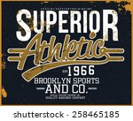 superior athletic tee graphic | Shutterstock .eps vector #258465185