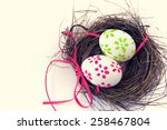 Easter Eggs With Bright Tapes...