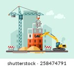 construction site  building a... | Shutterstock .eps vector #258474791