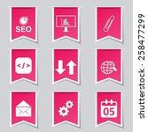 seo internet sign label vector... | Shutterstock .eps vector #258477299