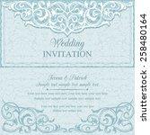 antique baroque wedding... | Shutterstock .eps vector #258480164
