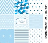 Set Of Nautical Patterns