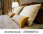 pillows on the bed | Shutterstock . vector #258486911