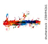 Colorful G Clef Background