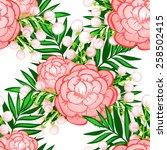 abstract elegance seamless... | Shutterstock . vector #258502415