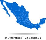 mexico map | Shutterstock .eps vector #258508631