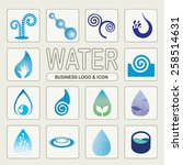 abstract water drop business... | Shutterstock .eps vector #258514631