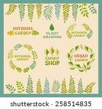 set of vector botanical round... | Shutterstock .eps vector #258514835