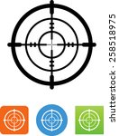 scope icon | Shutterstock .eps vector #258518975