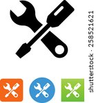 tools icon | Shutterstock .eps vector #258521621