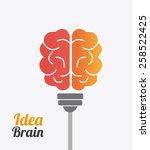 brain design over white... | Shutterstock .eps vector #258522425