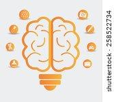 brain design over white...   Shutterstock .eps vector #258522734