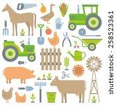 farm pattern   Shutterstock .eps vector #258523361