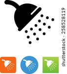 Shower Head With Water Icon