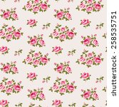 seamless floral pattern with... | Shutterstock .eps vector #258535751