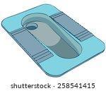 Squat Toilet Platform  Vector...