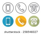 telephone icons | Shutterstock .eps vector #258548327