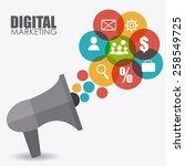 marketing design over white... | Shutterstock .eps vector #258549725