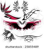 wing symbols vector set   Shutterstock .eps vector #25855489