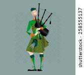 Scottish Bagpiper In Uniform....