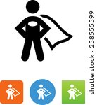 person wearing a cape icon | Shutterstock .eps vector #258555599