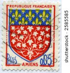 Vintage World Postage Stamp Ephemera france (editorial) - stock photo