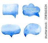 Speak Bubbles Watercolor Icons...
