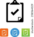 clipboard with check mark... | Shutterstock .eps vector #258564329
