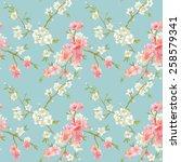 spring blossom flowers...   Shutterstock .eps vector #258579341