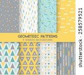 8 seamless geometric patterns   ... | Shutterstock .eps vector #258579521