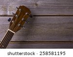 Acoustic Guitar On Wood...