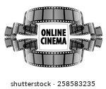 online cinema video film. eps10 ... | Shutterstock .eps vector #258583235