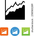 positive graph with points.... | Shutterstock .eps vector #258583289