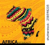 africa abstract map  texture... | Shutterstock .eps vector #258598235