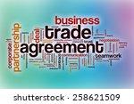 trade agreement word cloud...   Shutterstock . vector #258621509