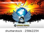 vector no stop music abstract... | Shutterstock .eps vector #25862254