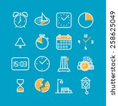 simple time icons set | Shutterstock .eps vector #258625049