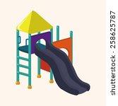 playground slide theme elements | Shutterstock .eps vector #258625787