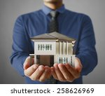 house model concept in the hand | Shutterstock . vector #258626969