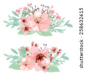vector of flowers decoration... | Shutterstock .eps vector #258632615